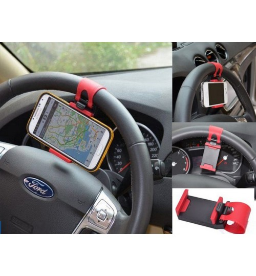 Universal Mobile Car Steering Wheel Mount Holder