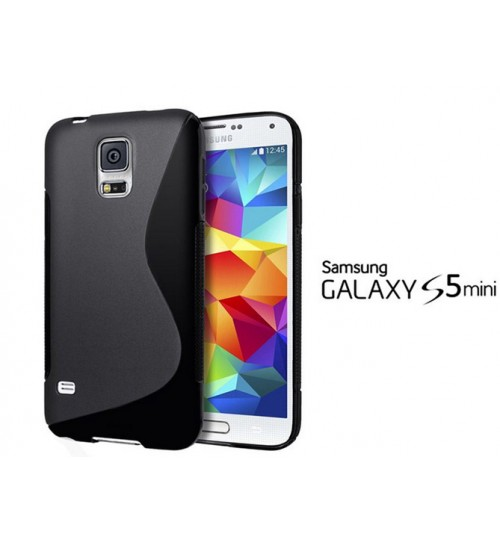 Galaxy S5 mini case TPU gel cover S line black+pen