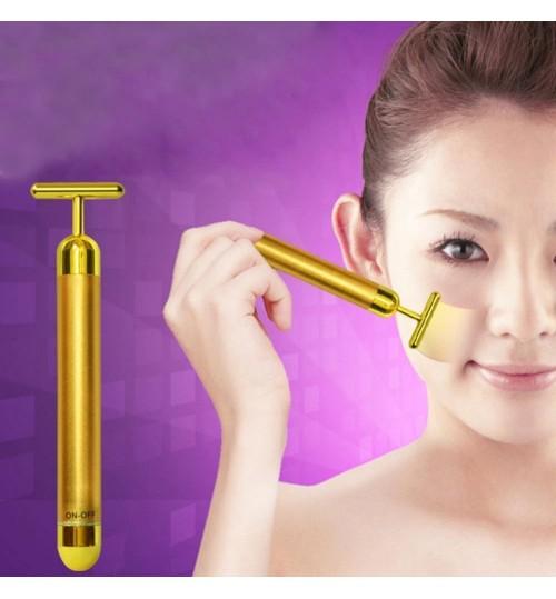 24K Golden Energy Beauty Bar Facial Massager