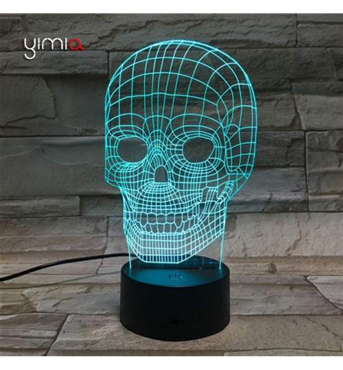 3D Desk Lamp Skeleton Decor Night LED Light