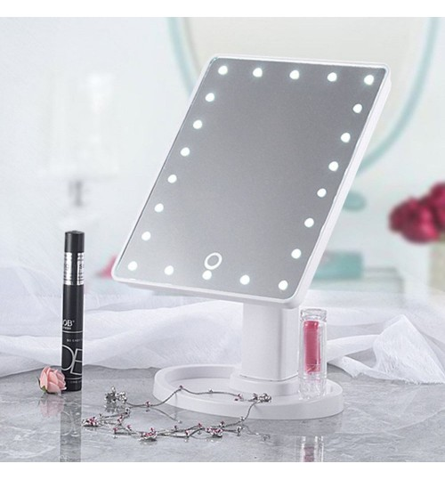 Mirror 16 LED Lighted Makeup Mirror Touch Screen