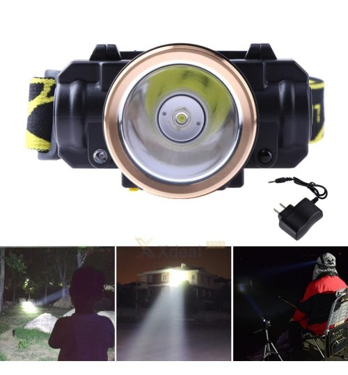 Rechargeable Mining work headlamp flashlight Miner Head Torch Light with charger