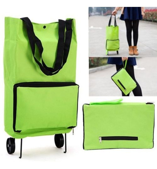 Shopping Trolley ote Bag Foldable Cart Rolling Grocery Wheels