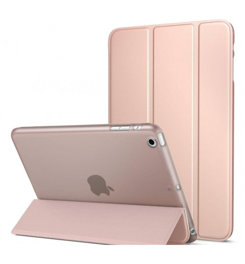 Ipad 1 2 3 4 Ultra Slim smart cover Case Translucent Frosted Back