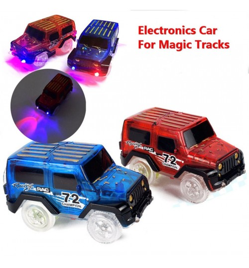 Electronics Cars 3 LED  For Magic Tracks With Flashing Lights SP
