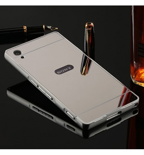 SONY Xperia XA case Slim Metal bumper with mirror back cover case