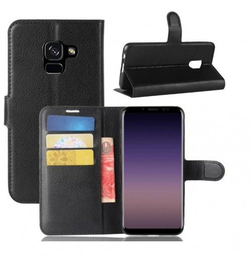 Galaxy A8 plus 2018 case wallet leather case cover