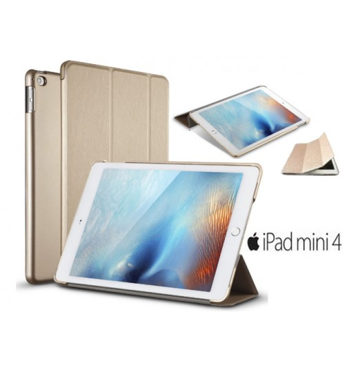 iPad Mini 4 Ultra slim smart case gold +PEN