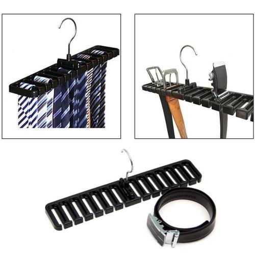Tie Belt Rotating Rack Organizer Hanger Holder