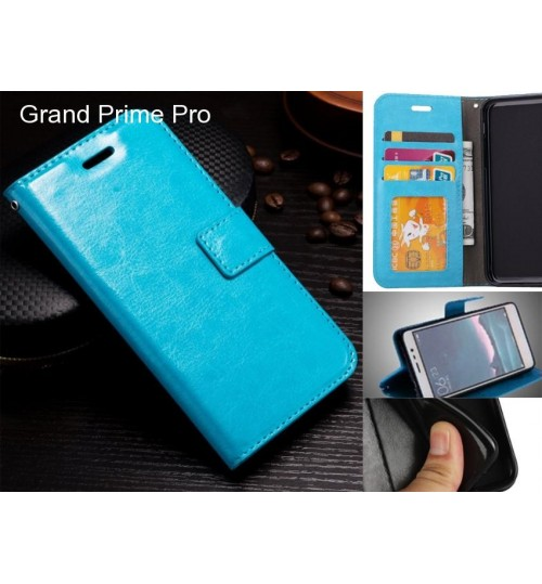 Grand Prime Pro case Fine leather wallet case