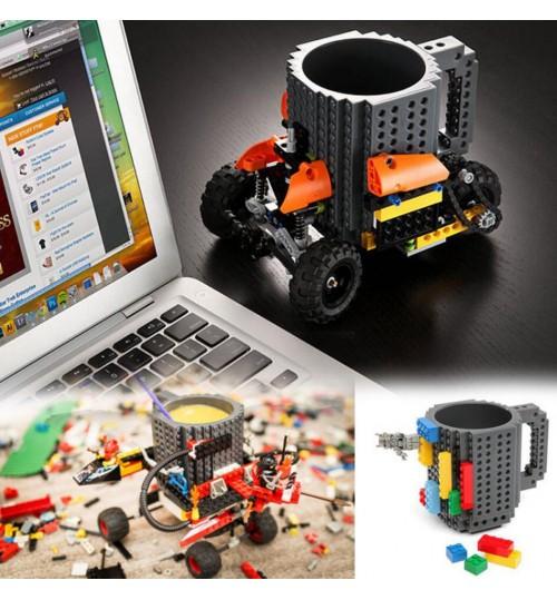 Drinkware Build-on Building Blocks Mugs DIY Block Coffee Cup