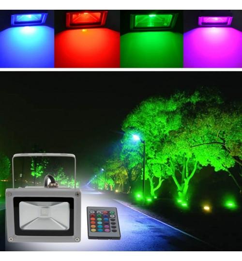 Waterproof 10W LED Flood Light RGB Motion Sensor Outdoor Floodlight