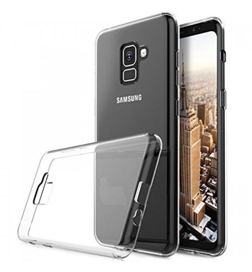Galaxy A8 plus 2018 case Soft Gel TPU Ultra Thin Clear