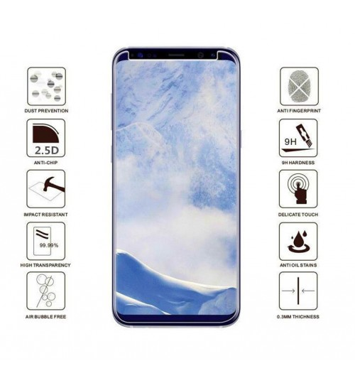Galaxy S9  FULL Screen covered Tempered Glass Screen Protector