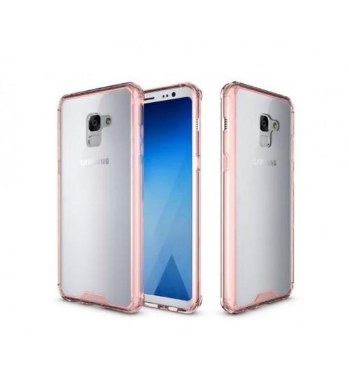 Galaxy A8 plus 2018 case bumper  clear gel back cover