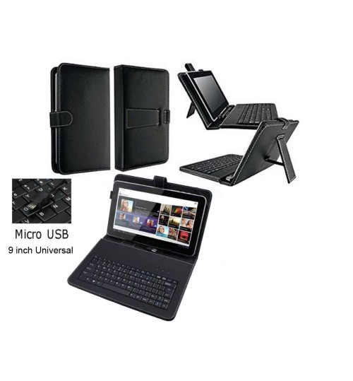 9 inch universal tablet case with keyboard+Gifts