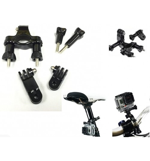 Handlebar Bike Mount Swivel compatible with GoPro Hero 4 / 3+ / 3
