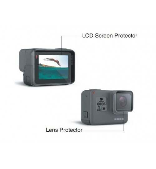LCD Screen + Lens Protector  HD Protectors compatible with GoPro HERO 5