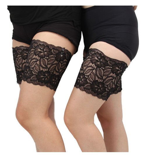 Lace Anti-Chafing Thigh  Leg Warmers