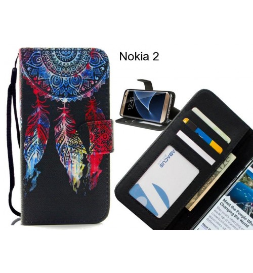 Nokia 2 case 3 card leather wallet case printed ID