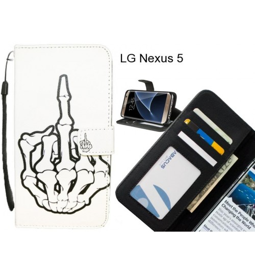 LG Nexus 5 case 3 card leather wallet case printed ID