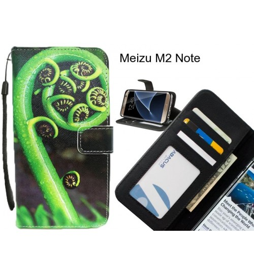 Meizu M2 Note case 3 card leather wallet case printed ID