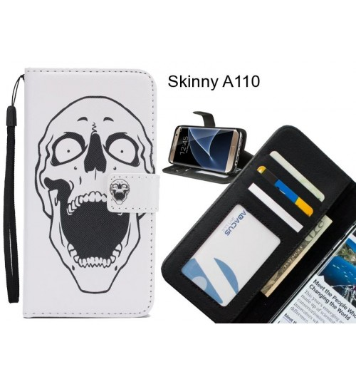 Skinny A110 case 3 card leather wallet case printed ID