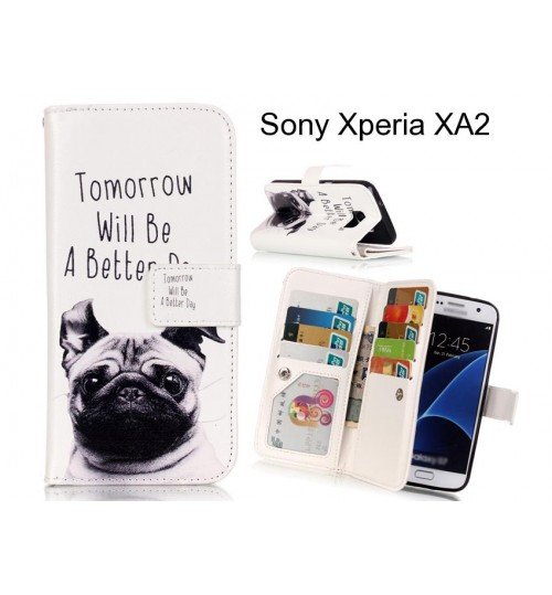 Sony Xperia XA2 case Multifunction wallet leather case