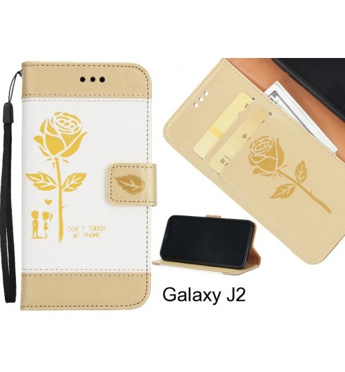 Galaxy J2 case 3D Embossed Rose Floral Leather Wallet cover case