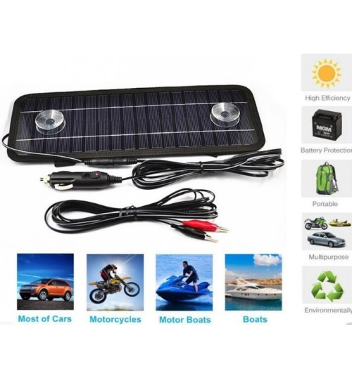 Solar Powered Trickle Charger For Motorcycle