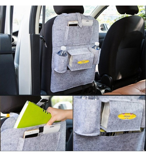 Car Seat Back Storage Bag Multi-Pocket