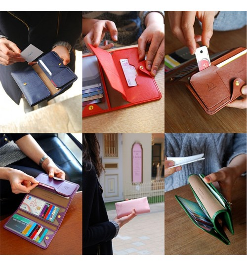 Women Multi Wallet Multi Card Slots Trifold