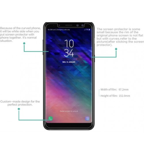 Galaxy A8 plus 2018 Matte Dust-proof Thin Screen Protector Film