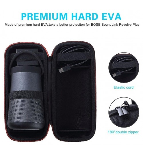 Bose Soundlink revolve plus Bluetooth speaker carry Case with handle & strap