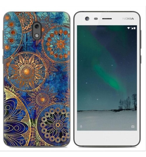 Nokia 2 case Ultra Slim Soft Gel TPU printed case soft cover