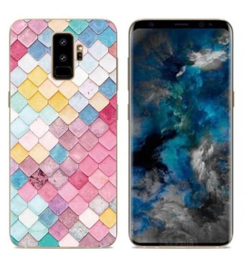 Galaxy A8 plus 2018 case Ultra Slim Soft Gel TPU printed case soft cover