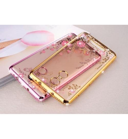 Redmi Note 3  case soft gel tpu case luxury bling shiny floral case