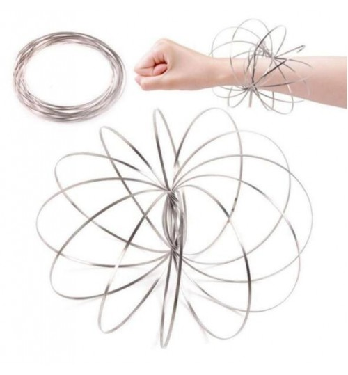 Magic ring 3D Steel Flow Dynamic Spinner Arm Ring