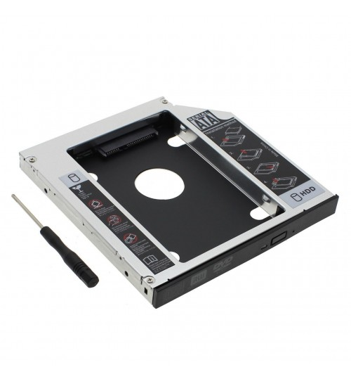 12.7mm Second HDD/SSD SATA Caddy Tray for laptop