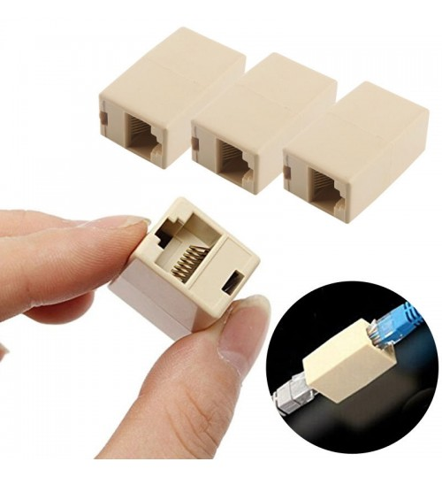 RJ45 Female to Female Network Ethernet Lan Cable Joiner Connector Cat Set