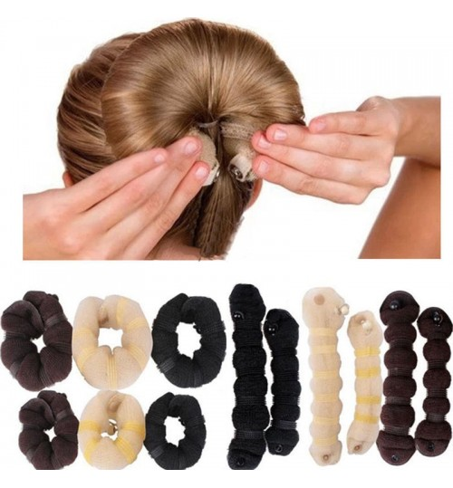 Hair Donut Bun Maker Foam Hair Styler Large 2pc