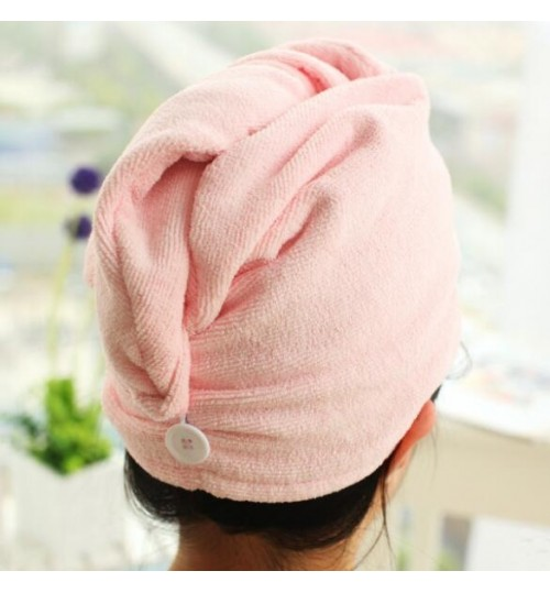 Quick Fast Dry Towel Hair Magic Drying Turban Wrap Hat Cap Bathing