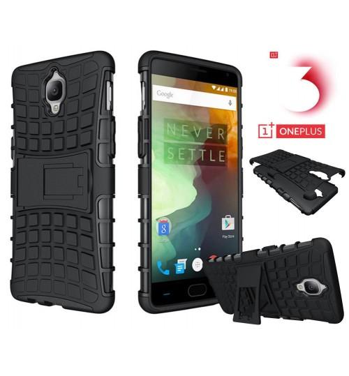 OnePlus 3T case OnePlus 3 Case Heavy Duty Hybrid Kickstand Case