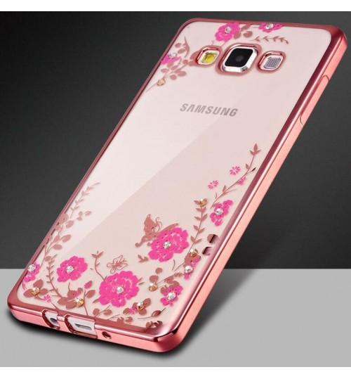 Samsung Galaxy A3 2017 soft gel tpu case luxury bling shiny floral case