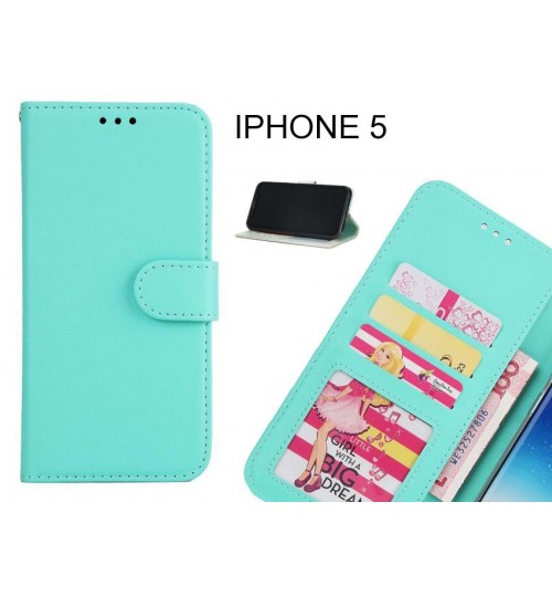 IPHONE 5 case magnetic flip leather wallet case