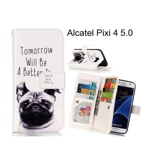 Alcatel Pixi 4 5.0 case Multifunction wallet leather case