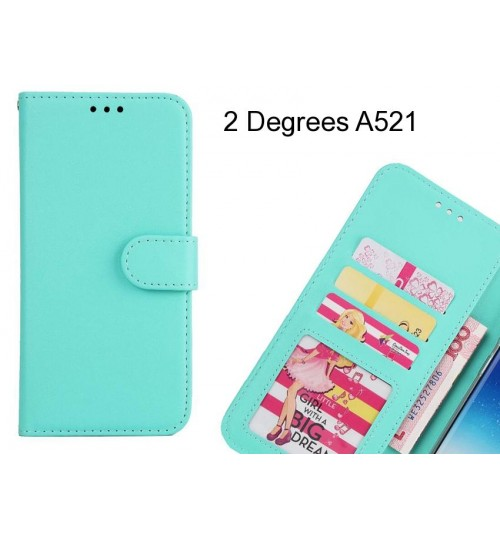 2 Degrees A521 case magnetic flip leather wallet case