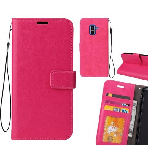 Galaxy A8 PLUS (2018) case Fine leather wallet case
