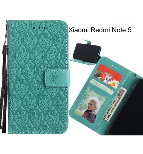 Xiaomi Redmi Note 5 Case Leather Wallet Case embossed sunflower pattern