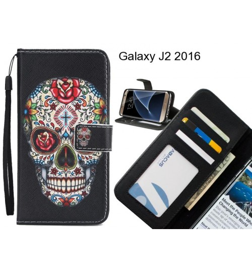 Galaxy J2 2016 case 3 card leather wallet case printed ID